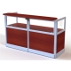 "FCASE RECEPTION COUNTER  GLASS 36"" WALNUT RC900G"