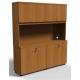 JULIO HUTCH 4 DOOR AND DOUBLE DOOR  FOR  CREDENZA WALNUT